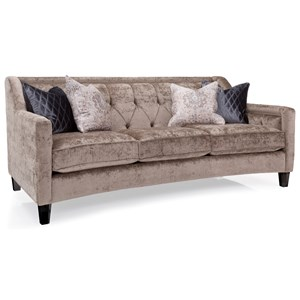 Transitional Sofa with Framed Tufted Back and Nailheads