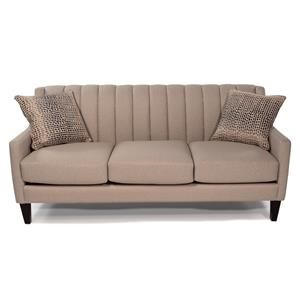 Contemporary Sofa with Channel Tufted Back