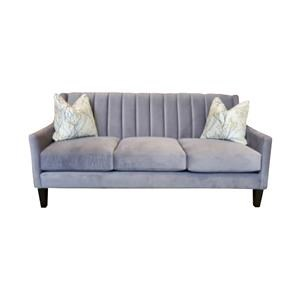 Contemporary Condo Sofa with Channel Tufted Back
