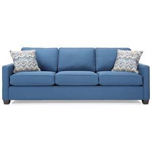 """Contemporary 94"""" Sofa with Track Arms"""