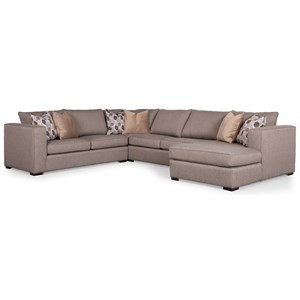 Contemporary Customizable Sectional with Chaise