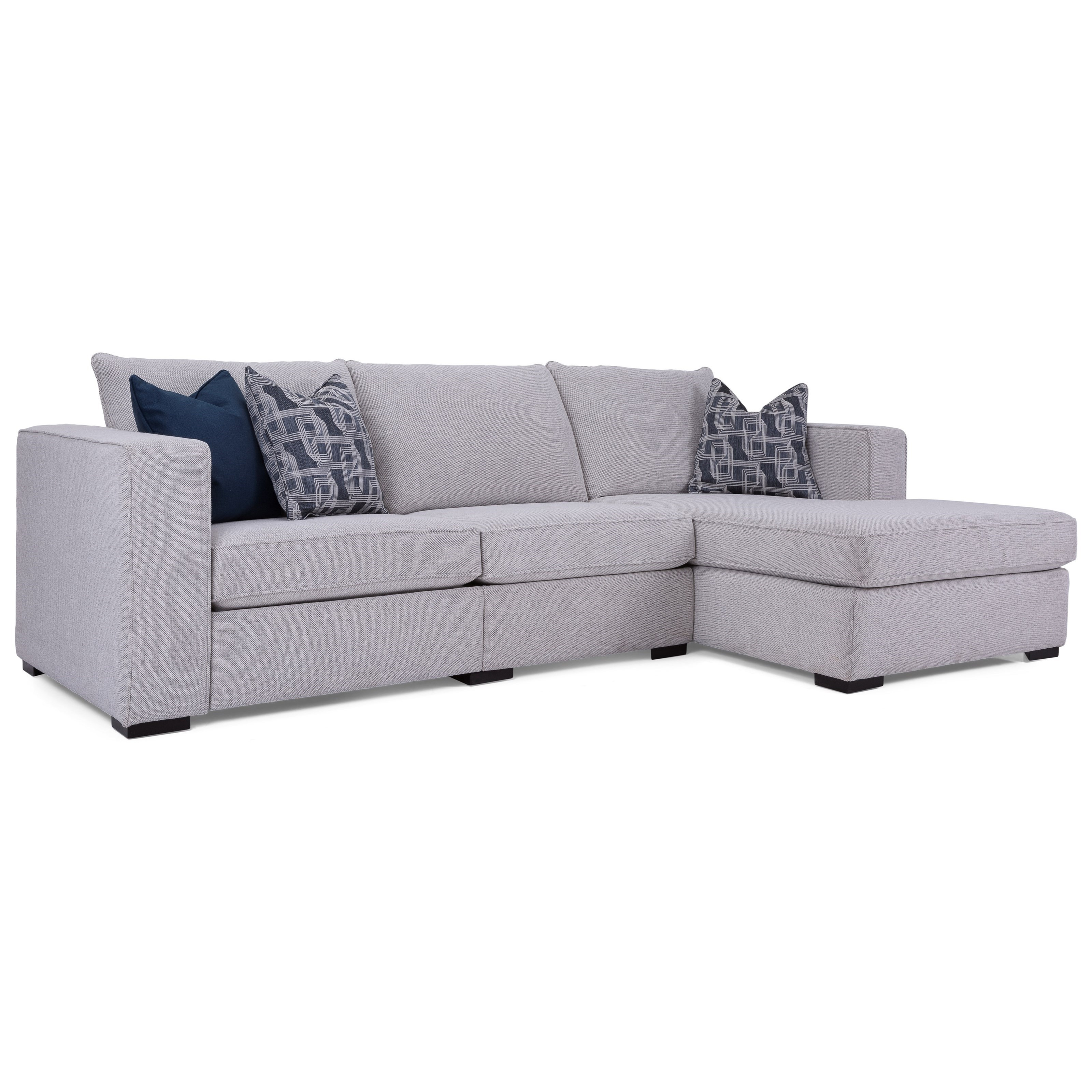 2900 Reclining Sofa with Chaise by Decor-Rest at Johnny Janosik