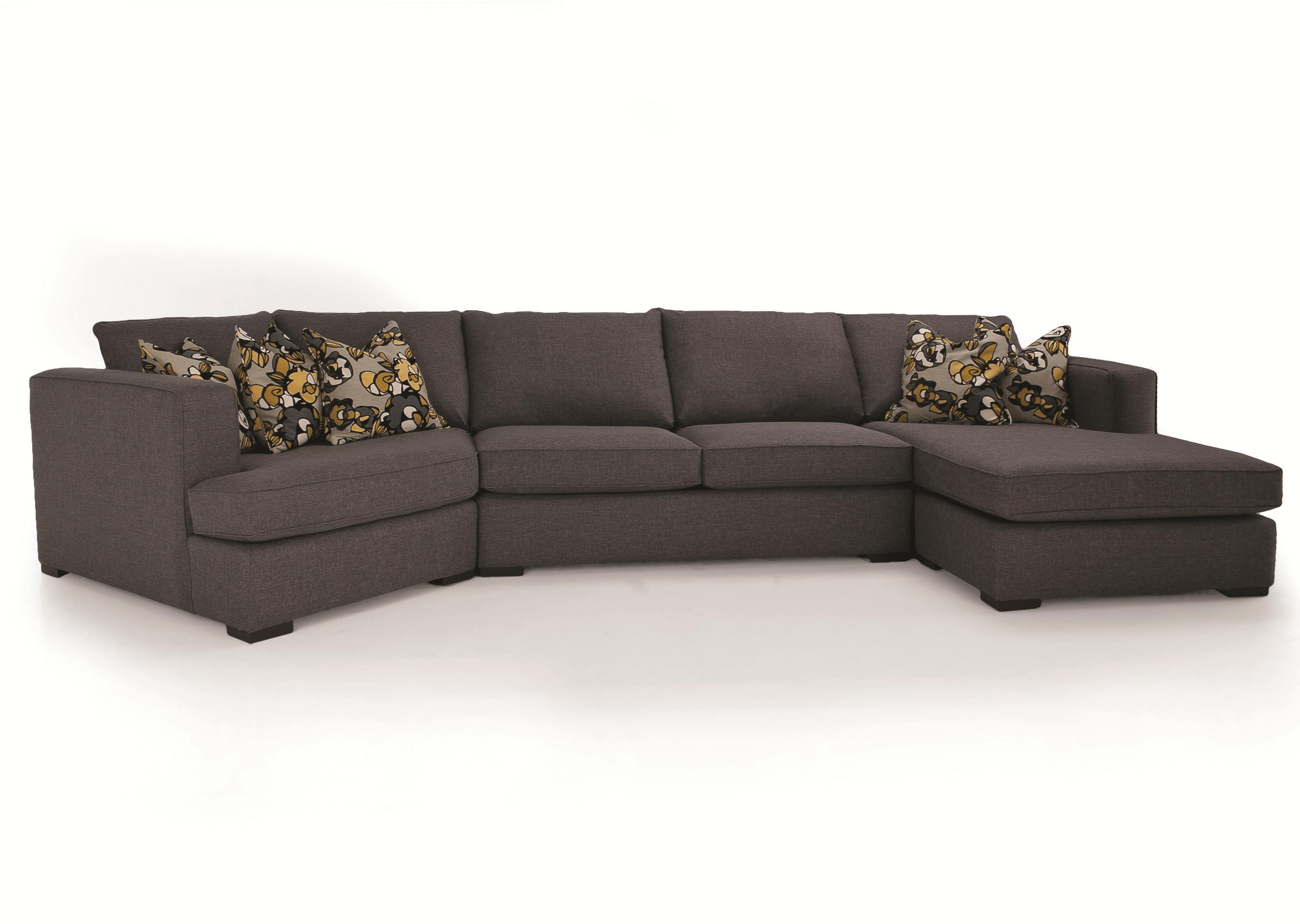 2900 3 pc. Sectional by Decor-Rest at Rooms for Less