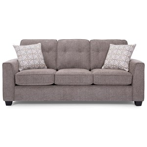 Sofa with Tufted Back Cushions
