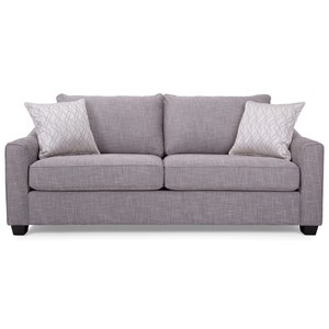 Contemporary Sofa with Wood Feet
