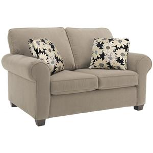 Classic Upholstered Loveseat with Rolled Arms