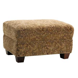 Upholstered Ottoman with Tapered Legs