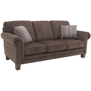 Upholstered Sofa with Rolled Arms