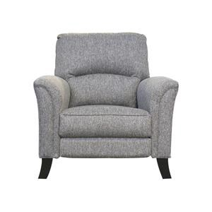 Transitional Push Back Chair with Tapered Arms