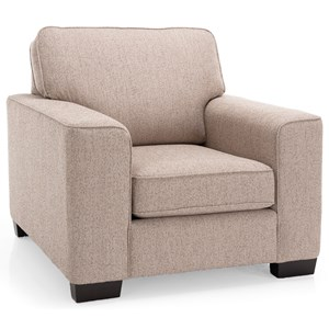 Contemporary Chair with Tapered Block Feet