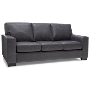 Contemporary Sofa with Tapered Block Feet