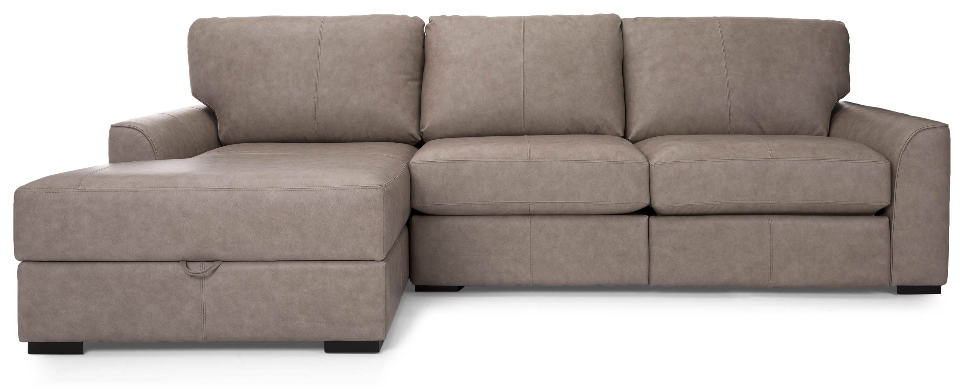 Mika Leather Sectional by Taelor Designs at Bennett's Furniture and Mattresses