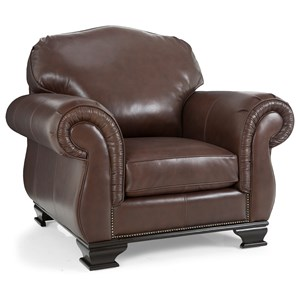 Leather Chair with Nail Head Trim