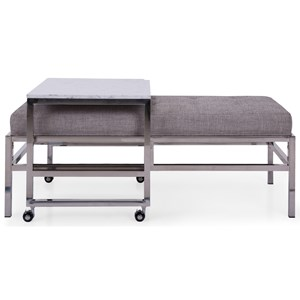 Contemporary Upholstered Ottoman Bench