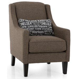 Customizable Upholstered Chair with Kidney Pillow