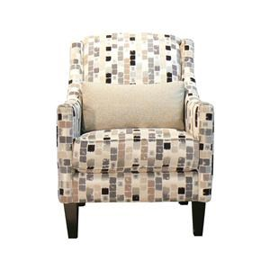 Upholstered Chair with Kidney Pillow