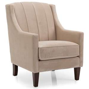Contemporary Chair with Channeled Back