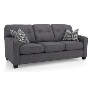 Track Arm Sofa w/ Tapered Legs
