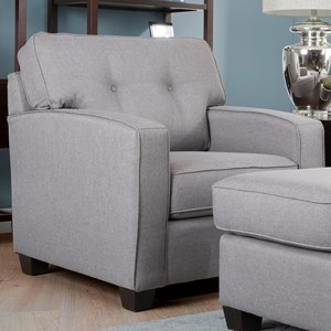 Casual Chair with Button Tufted Seat Back