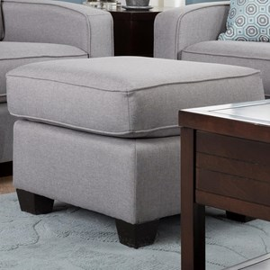 Casual Ottoman with Tapered Legs