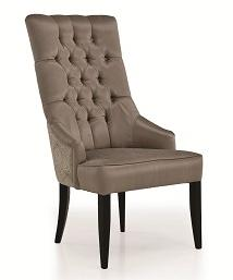 Martini Captain High Back Chair w/ Tufting