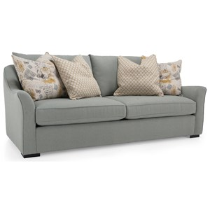 Modern Flared Track Arm Sofa