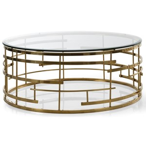 Coffee Table with Geometric Designed Frame