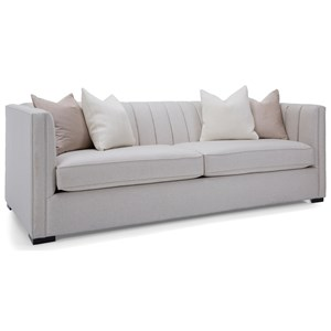 Transitional Channel Back Tuxedo Sofa