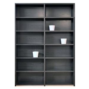Double Bookcase with 12 Shelves