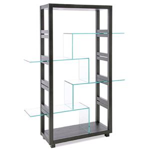 Display Unit with Tempered Glass Shelves and 2 Top Lights