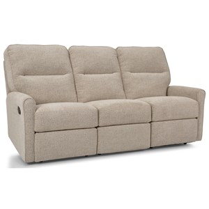 Reclining Sofa with Channel Back