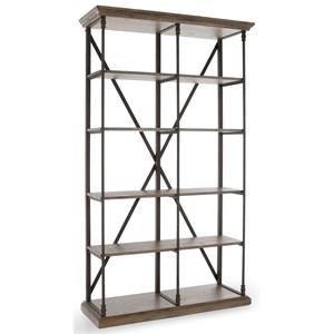 Industrial Five Shelf Bookcase