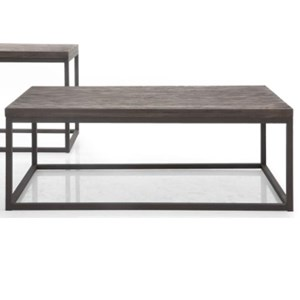 Rectangular Coffee Table with Rustic Weathered Oak Top