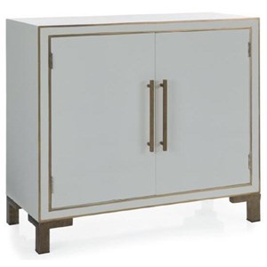 Orchid White Cabinet with Gold Accents