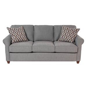 Roll-Arm Sofa w/ Casual Style