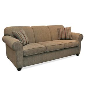 Casual Style Upholstered Sofa with Tapered Legs
