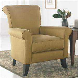 Upholstered Chair with Tapered Legs