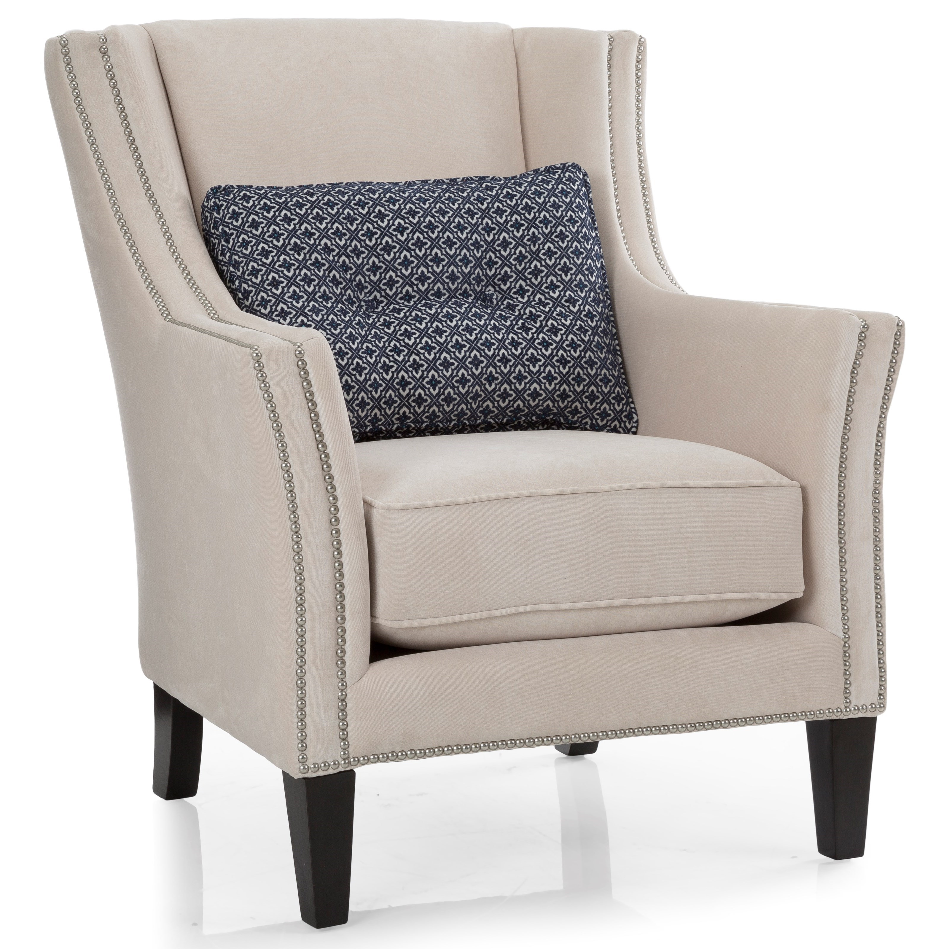 Upholstered Accents Track Arm Chair by Taelor Designs at Bennett's Furniture and Mattresses