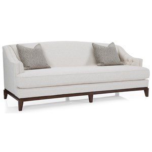 Traditional Sofa with Camel Back