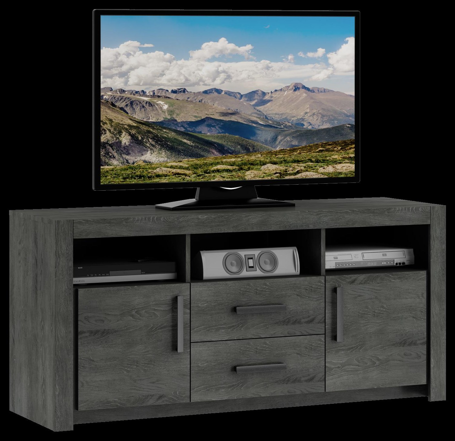 163 TV Console, 2 dwr, 2 dr by Defehr at Stoney Creek Furniture