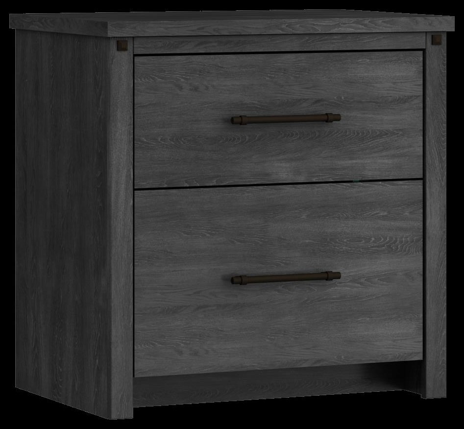 607 Night Table, 2 drawer by Defehr at Stoney Creek Furniture