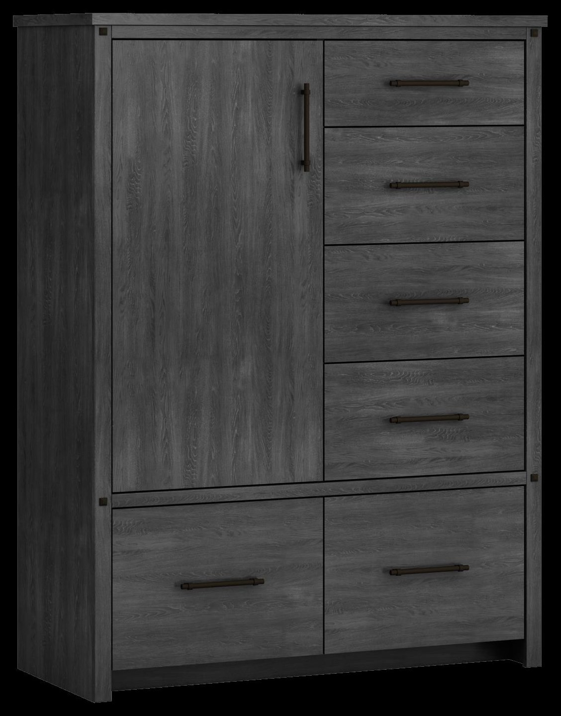 607 Armoire, 1 door, 6 drawer by Defehr at Stoney Creek Furniture