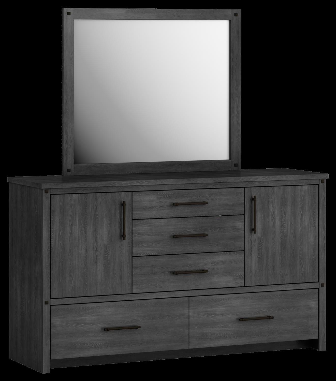 607 Dresser, 2 door, 5 drawer by Defehr at Stoney Creek Furniture