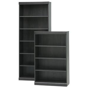 Charcoal Bookcase with 6 Shelves