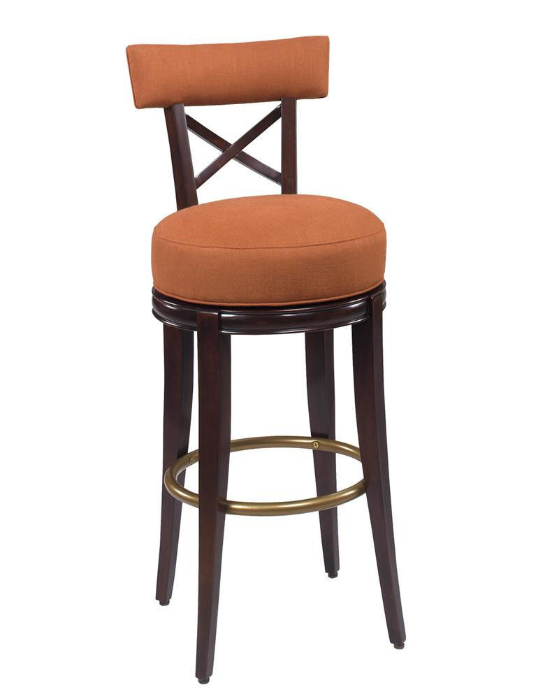 Dining Stools Callaway 'X' Back Swivel Dining Stool by Comfort Plus at Sprintz Furniture