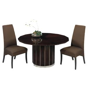 Designmaster Tables Milan Art Deco with Mahogany Veneer Top