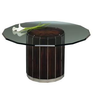 Designmaster Tables Milan Art Deco with Glass Top