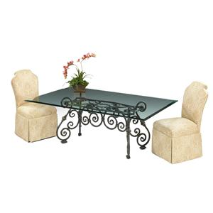 Designmaster Tables Larkspur Table with Glass Top