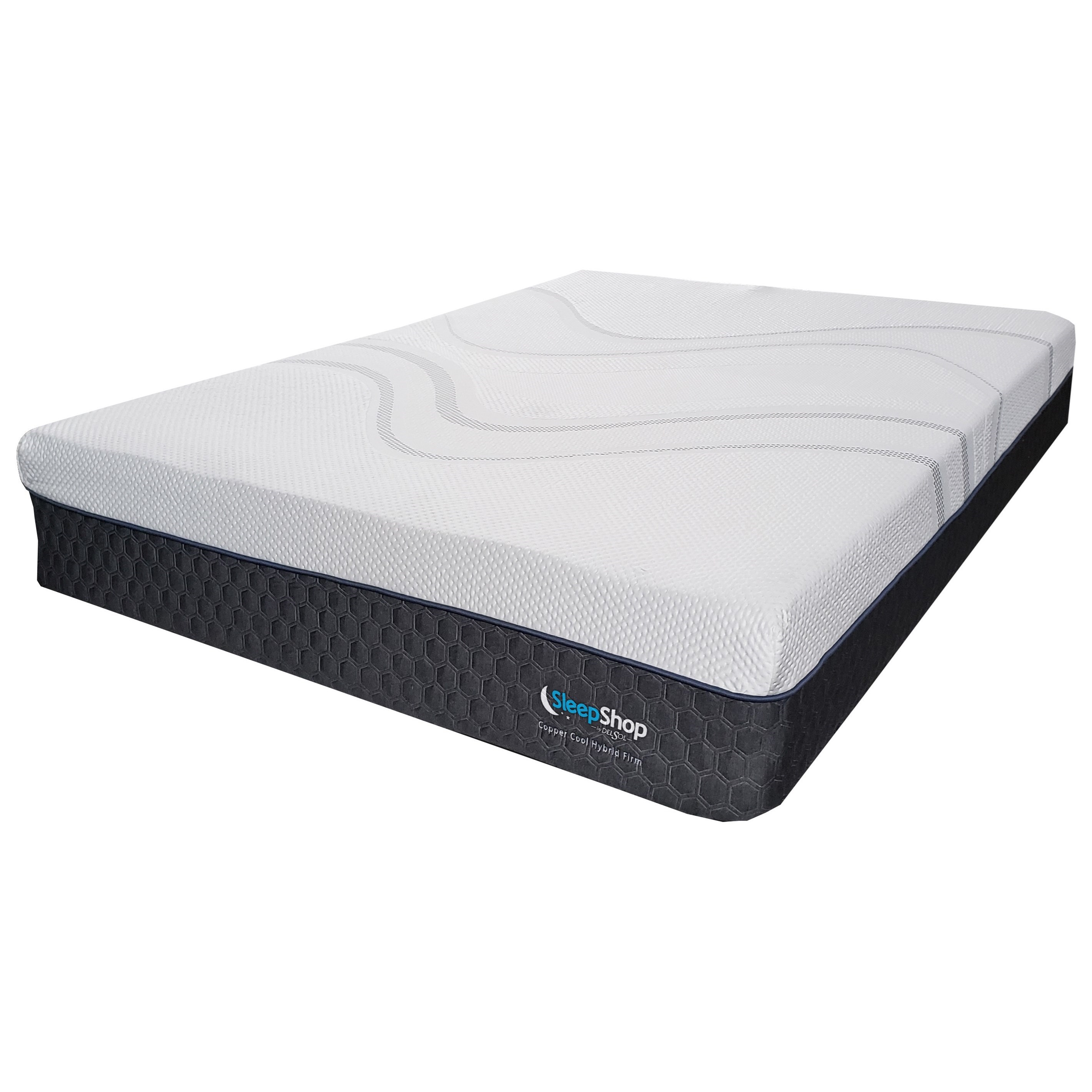 Copper Cool Hybrid Plush Queen Hybrid Cooling Plush Mattress-in-a-Box by Sleep Shop Mattress at Del Sol Furniture