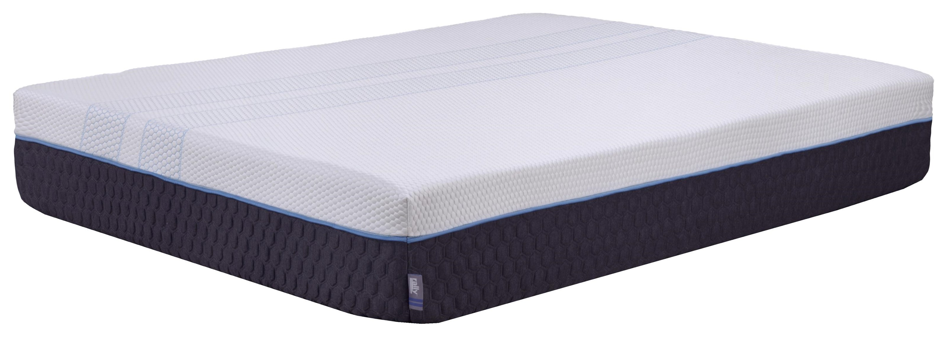 Rally Hybrid Cooling Firm Queen Firm Hybrid Cooling Mattress in a Box by Diamond Mattress at Beck's Furniture